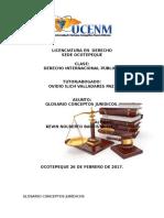 Glosario Derecho Internacional  Publico