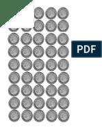 Monedas Blanco y Negro 1 2 5 y 10