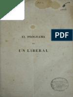 1861 José María Samper - El programa de un liberal