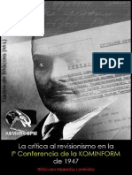 Equipo de Bitácora (M-L); La crítica al revisionismo en la Iº Conferencia de la Kominform de 1947, 2015.pdf