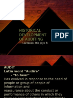 Auditing Historical Development