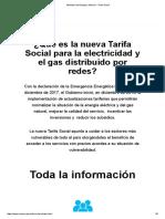 Ministerio de Energía y Minería - Tarifa Social