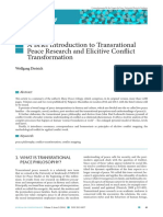Elicitive Conflict Transformation- Wolfang
