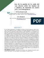 Parámetros de La Prueba de La Caída Del Cono y Sus Efectos Sobre Los Límites de Líquido y Plástico de Muestras de Suelos Homogéneos y No Homogéneos