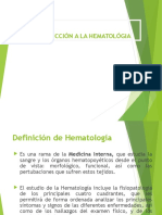 Introducción de Hematología