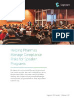 Helping Pharmas Manage Compliance Risks for Speaker Programs