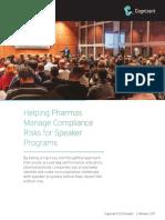 Helping Pharmas Manage Compliance Risks for Speaker Programs