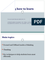 Learning How to Learn Assignment