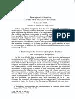 Childs-Retrospective Readings of the OT Prophets
