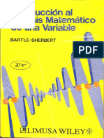 Analisis Matematico de Una Variable Bartle Sherbert