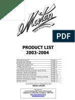Maton Products