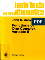 (Graduate Texts in Mathematics 159) John B. Conway-Functions of One Complex Variable II (Graduate Texts in Mathematics) (Pt. 2)-Springer (1995)
