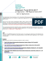 IPSF Regional Event Grant Call 2016-2017