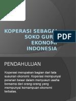 Koperasi Sebagai Soko Guru Ekonomi Indonesia