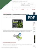 Electromagnetic Flow Meters Working Principle Instrumentation Tools