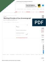 Working Principle of Gas Chromatograph Instrumentation Tools