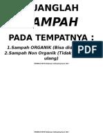 Phbs Buang Sampah Pada Tempatnya Organikanorganik Poster