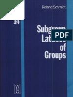 Schmidt SubgroupLatticesOfGroups