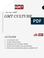 REFRESHMENT TRAINING - GMT CULTURE