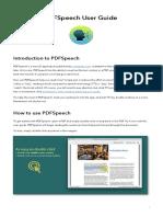 PDFSpeech User Guide