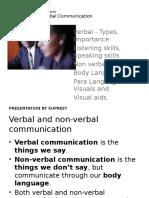 Unit 2 -Non Verbal Communication
