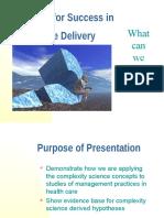 Managing for Success in Healthcare Delivery Anderson Plexus Dec 7 2004
