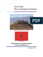 Peace Corps Morocco Final Program Evaluation Report          PC IG1006E