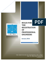 International Professional Engineer Rules Effective From January 1, 2016