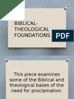 Biblical Theological Foundations