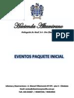 Paquete Inicial Bodas Hacienda