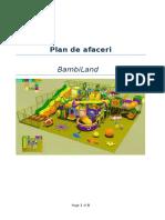 Plan de Afaceri Loc de Joaca