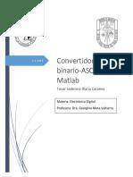 Convertidor Binario ASCII con MATLAB