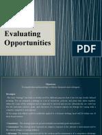 Evaluating Opportunities
