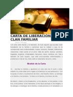 Carta de Liberación Del Clan Familiar