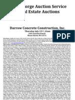 Darrow Concrete Auction
