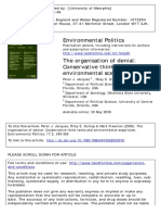 Conservative Think Tanks and Environmental Scepticism