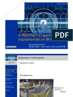 A PROFINET IO Application Implemented on Wireless LAN