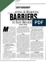Barries Safe Behavior
