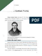 Filosofia Lui Fichte in Engleza