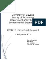 CIV4218 - Assignment #1 - Methods of Design