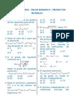 Algebra - Polinomios - Valor Numerico