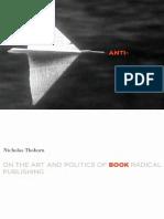 Anti-Book. Thoburn, Nicholas