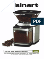 Cuisinart DBM 8 Coffee Grinder Burr Mill Manual PDF English Spanish