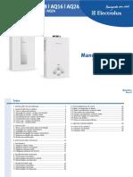 Electrolux (AQ) - AQ 08 16 24 - Aquecedor de Agua - (MS) R3 Mai12
