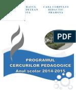 Cercuri Pedagogice 2014-2015
