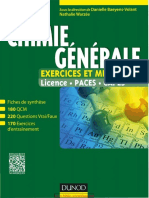 Chimie Générale - Exercices Et Méthodes