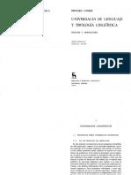 Comrie - Universales Del Lenguaje y Tipología Lingüística