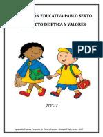 Proyecto de Etica y Valores 2017