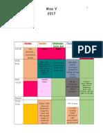 schedule week 1