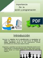 Importancia de La Planificación y Programación